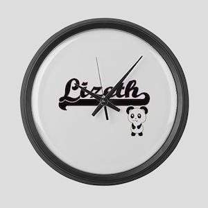 Lizeth Classic Retro Name Design Large Wall Clock