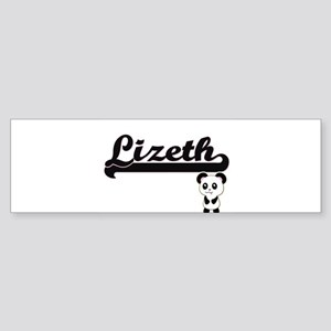 Lizeth Classic Retro Name Design wi Bumper Sticker