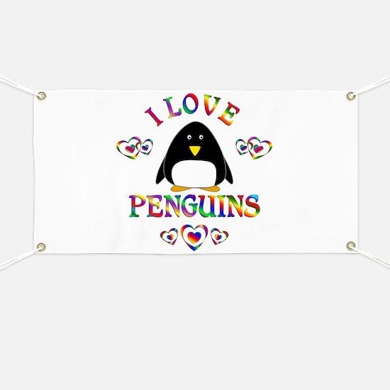 I Love Penguins Banner
