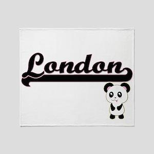 London Classic Retro Name Design wit Throw Blanket