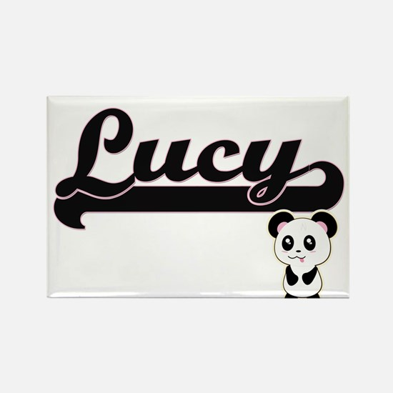 Lucy Classic Retro Name Design with Panda Magnets