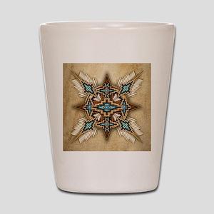 Native American Style Mandala 26 Shot Glass