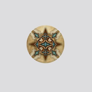 Native American Style Mandala 26 Mini Button