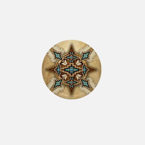 Native American Style Mandala 26 Mini Button