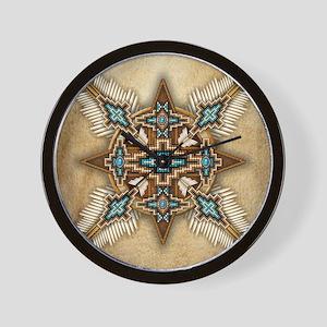 Native American Style Mandala 26 Wall Clock