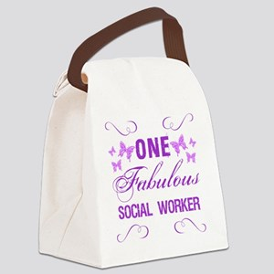 One Fabulous Social Worker Canvas Lunch Bag
