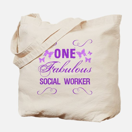 One Fabulous Social Worker Tote Bag