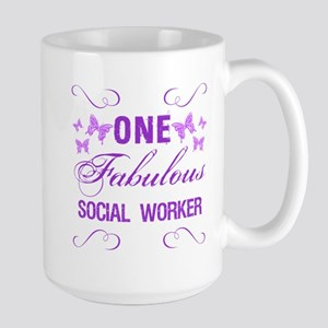 One Fabulous Social Worker Large Mug
