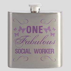 One Fabulous Social Worker Flask