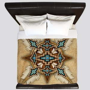 Native American Style Mandala 26 King Duvet