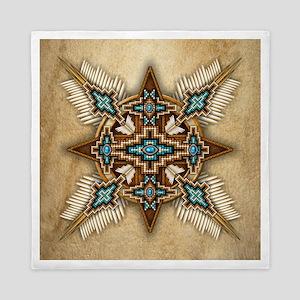 Native American Style Mandala 26 Queen Duvet