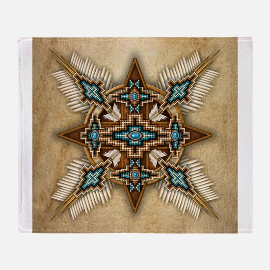 Native American Style Mandala 26 Throw Blanket