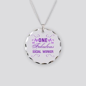 One Fabulous Social Worker Necklace Circle Charm