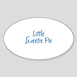 Little Sweetie Pie Oval Sticker
