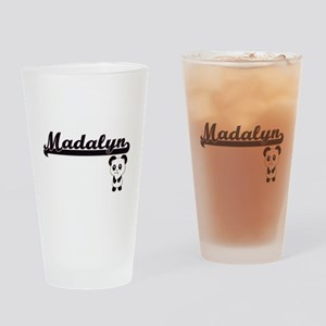 Madalyn Classic Retro Name Design w Drinking Glass