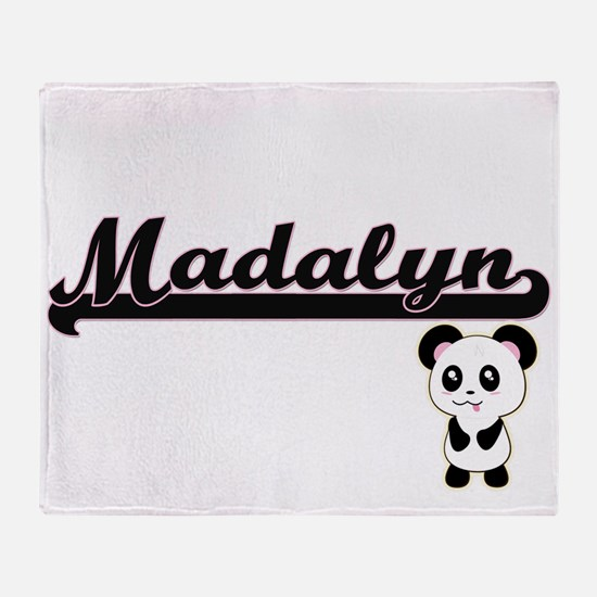 Madalyn Classic Retro Name Design wi Throw Blanket