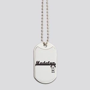 Madalyn Classic Retro Name Design with Pa Dog Tags