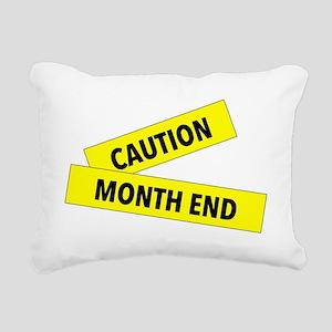 Month End Caution Tape Rectangular Canvas Pillow