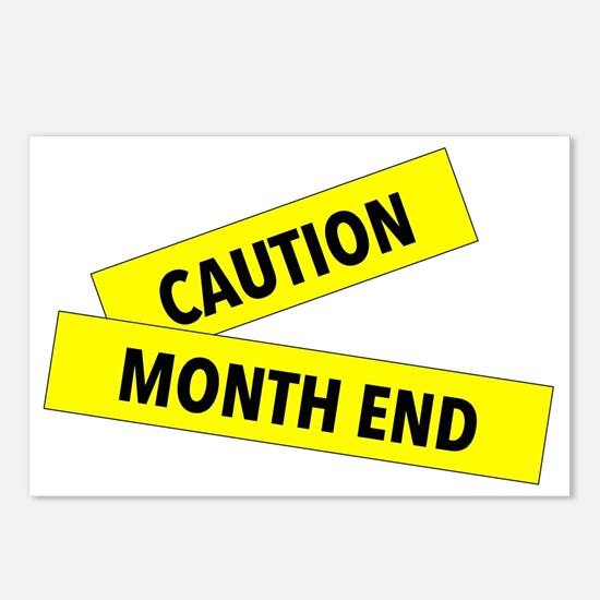 Month End Caution Tape Postcards (Package of 8)