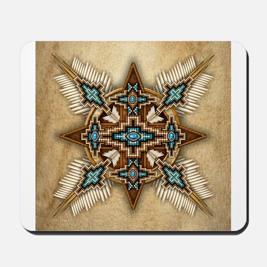 Native American Style Mandala 26 Mousepad