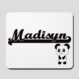 Madisyn Classic Retro Name Design with P Mousepad