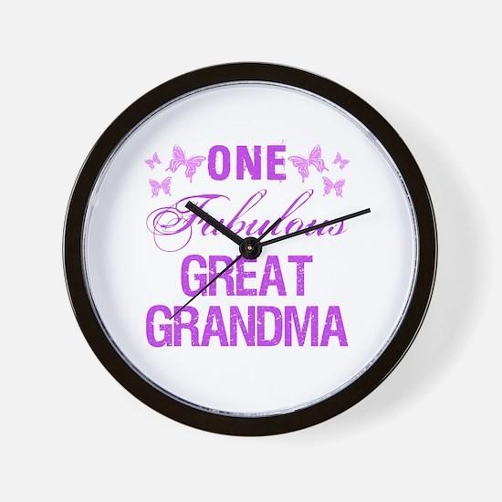 One Fabulous Great Grandma Wall Clock