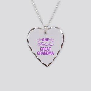 One Fabulous Great Grandma Necklace Heart Charm
