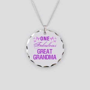 One Fabulous Great Grandma Necklace Circle Charm
