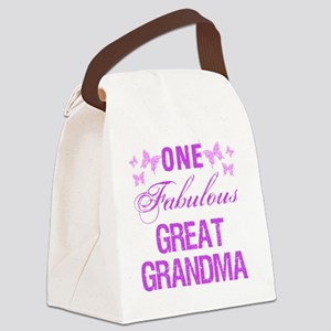 One Fabulous Great Grandma Canvas Lunch Bag