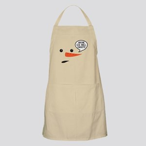 Anyone else smell carrots? Funny snowman Apron