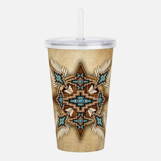 Native American Style Mandala 26 Acrylic Double-wa