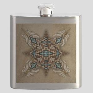 Native American Style Mandala 26 Flask