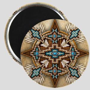 Native American Style Mandala 26 Magnets