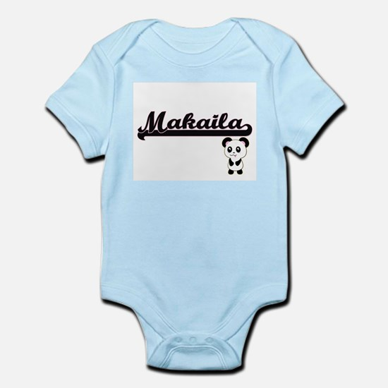 Makaila Classic Retro Name Design with P Body Suit