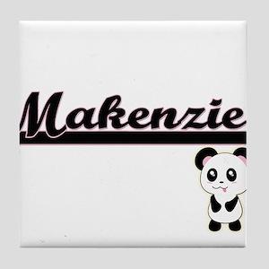 Makenzie Classic Retro Name Design wi Tile Coaster