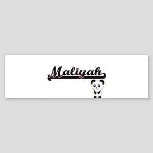 Maliyah Classic Retro Name Design w Bumper Sticker
