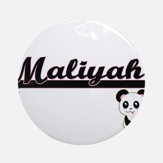 Maliyah Classic Retro Name Design Ornament (Round)