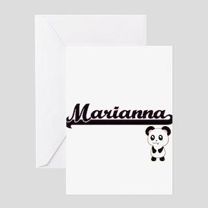 Marianna Classic Retro Name Design Greeting Cards