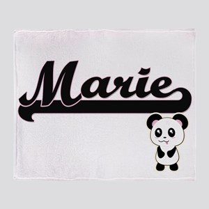 Marie Classic Retro Name Design with Throw Blanket