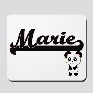 Marie Classic Retro Name Design with Pan Mousepad