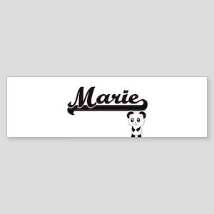 Marie Classic Retro Name Design wit Bumper Sticker