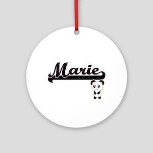 Marie Classic Retro Name Design w Ornament (Round)