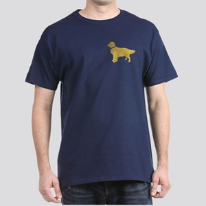 Preppy Golden Retriever Dark T-Shirt