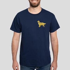 Preppy Golden Retriever Dark T-Shirt
