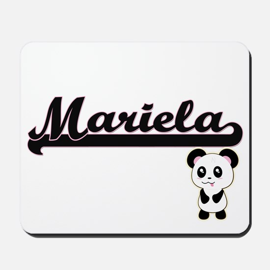 Mariela Classic Retro Name Design with P Mousepad