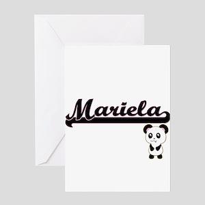 Mariela Classic Retro Name Design w Greeting Cards