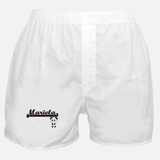 Mariela Classic Retro Name Design wit Boxer Shorts