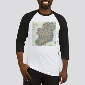 Vintage Map of Ireland (1799) Baseball Jersey