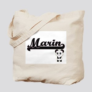 Marin Classic Retro Name Design with Pand Tote Bag