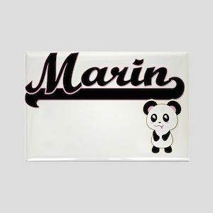 Marin Classic Retro Name Design with Panda Magnets